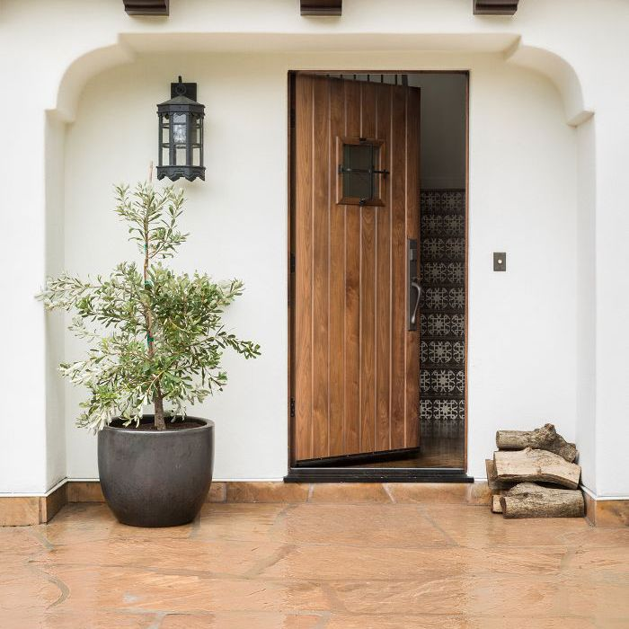 front door—Spanish bungalow