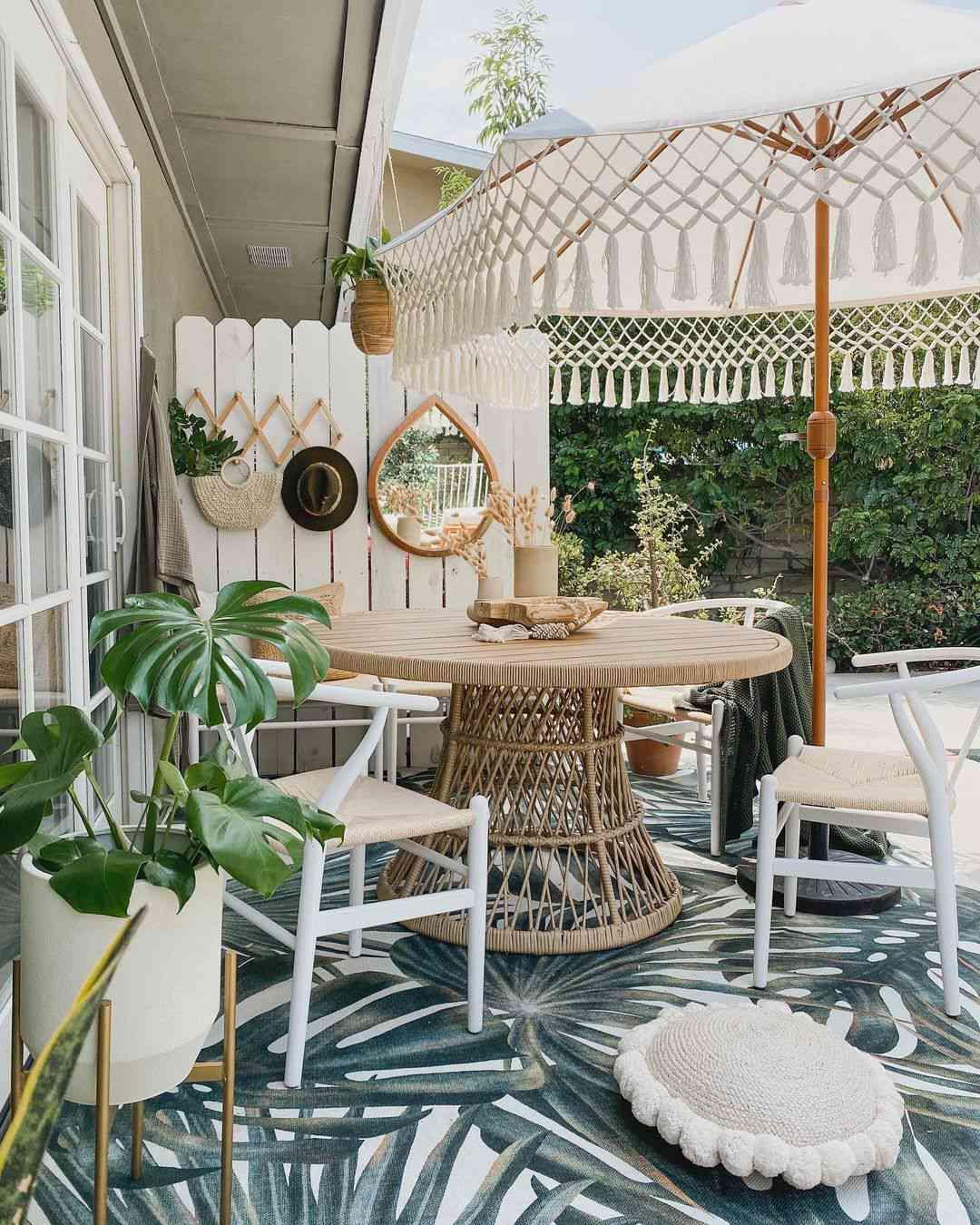 outdoor party decor texture