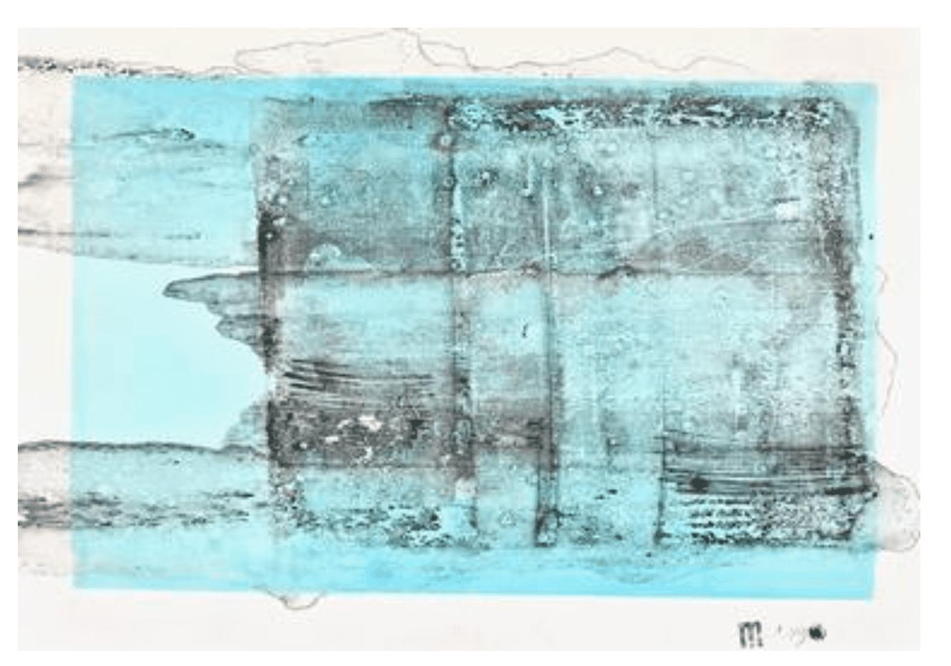 Abstract art piece by Michael Lentz