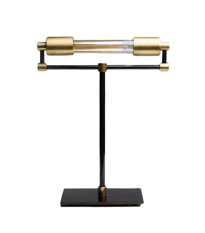 Jones Country Road Electric T Bankers Brass Desk Lamp