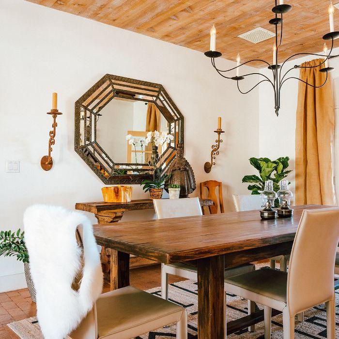 desert chic dining room