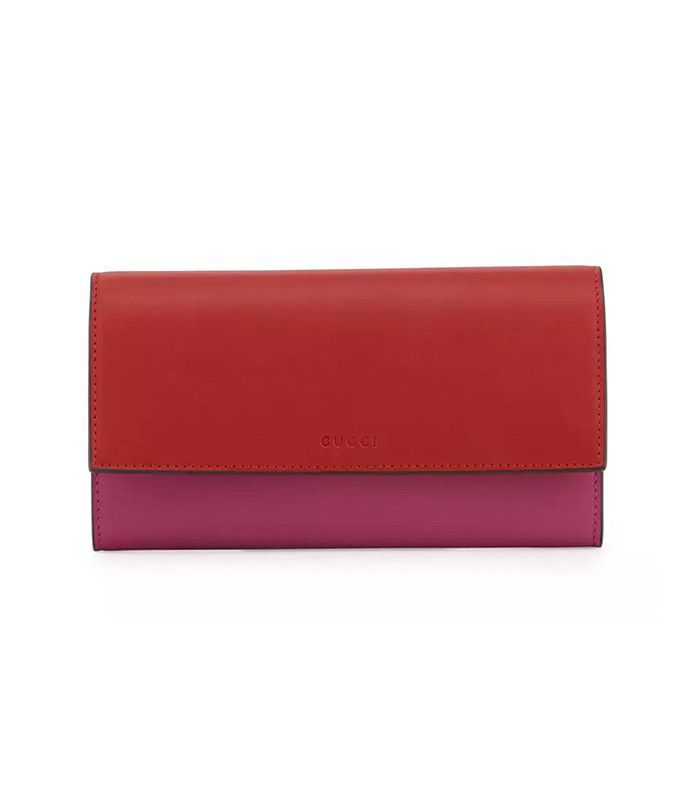 Gucci Contrast Leather Continental Wallet
