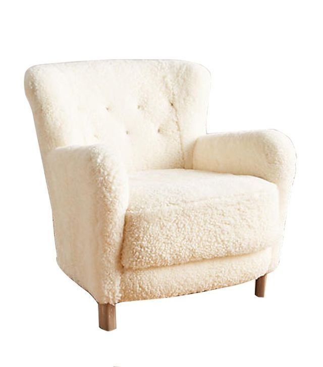Anthropologie Wool Hartwell Chair