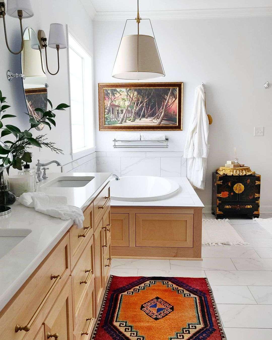 bathroom with vintage details