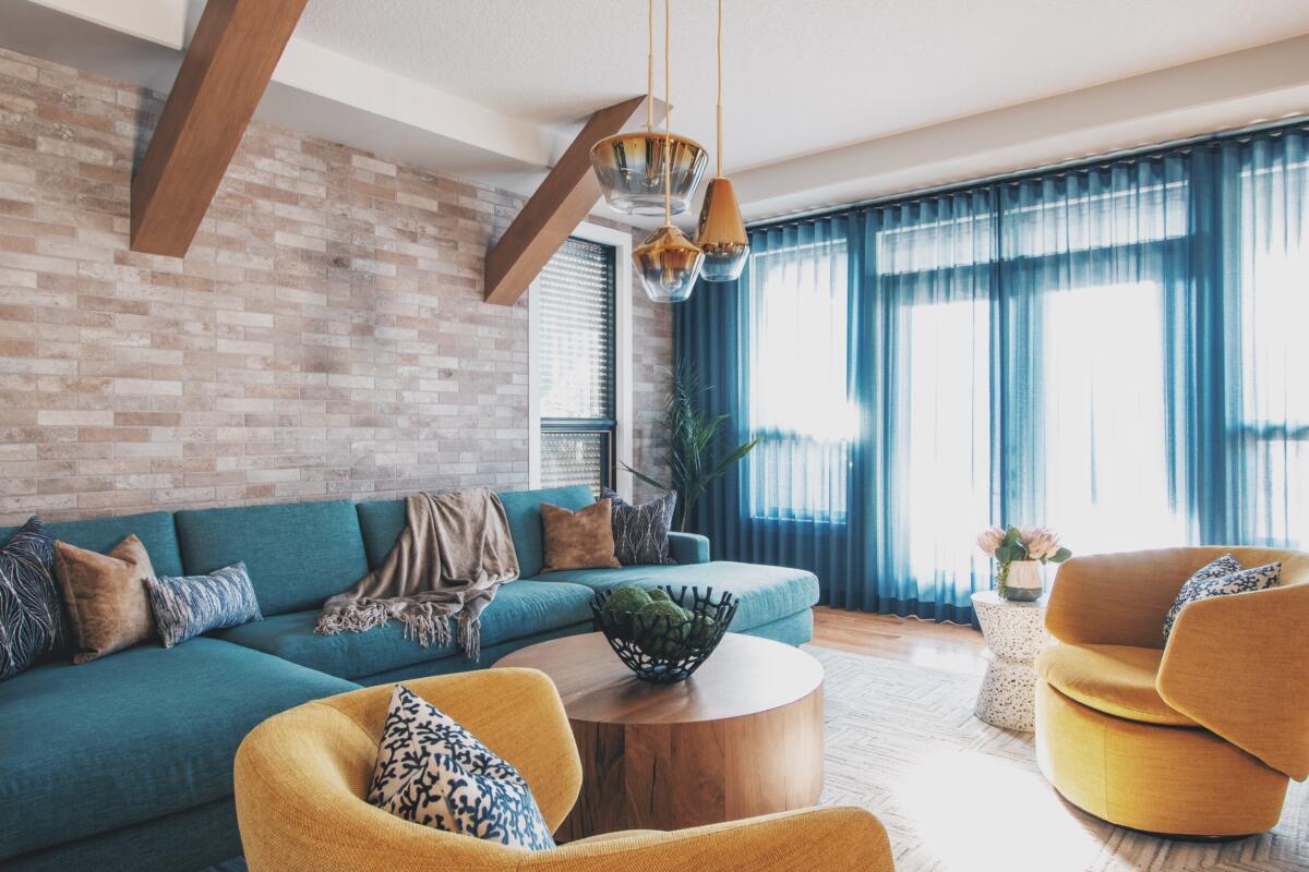 yellow furniture