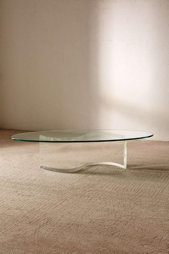 For UO Renewal One-Of-A-Kind S-Shaped Lucite Coffee Table