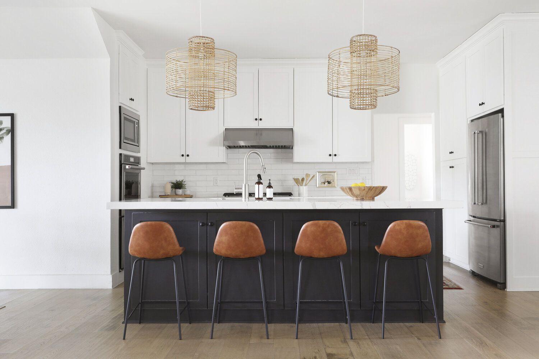 leather stools kitchen