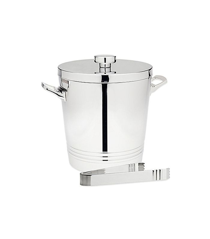 Bed Bath & Beyond Top Shelf Silver Stainless Steel Ice Bucket