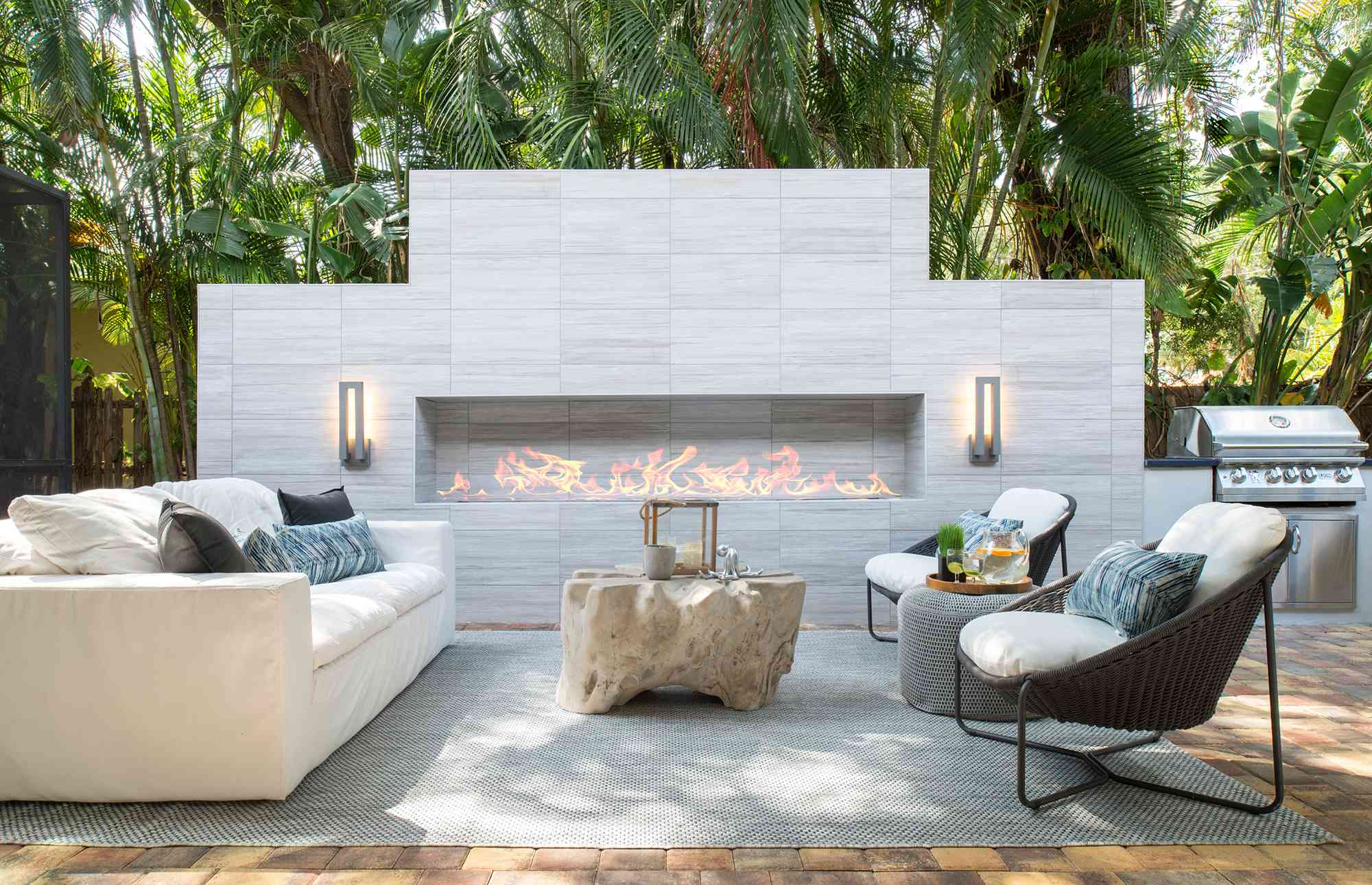 Sire Design outdoor fireplace.