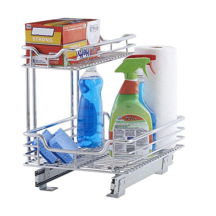 Household Essentials C26512-1 Glidez Under Sink Sliding Organizer