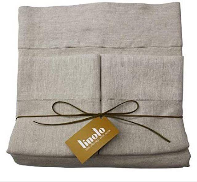 Linoto 100% Linen Bed Sheet Set 4 Piece