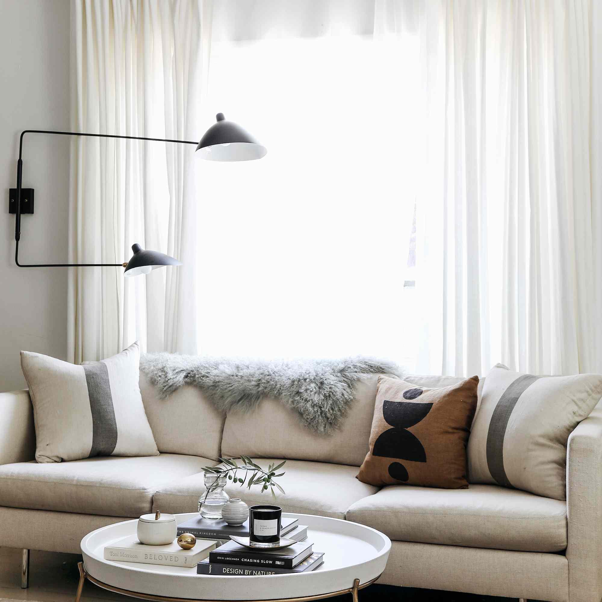 Calming neutral living room