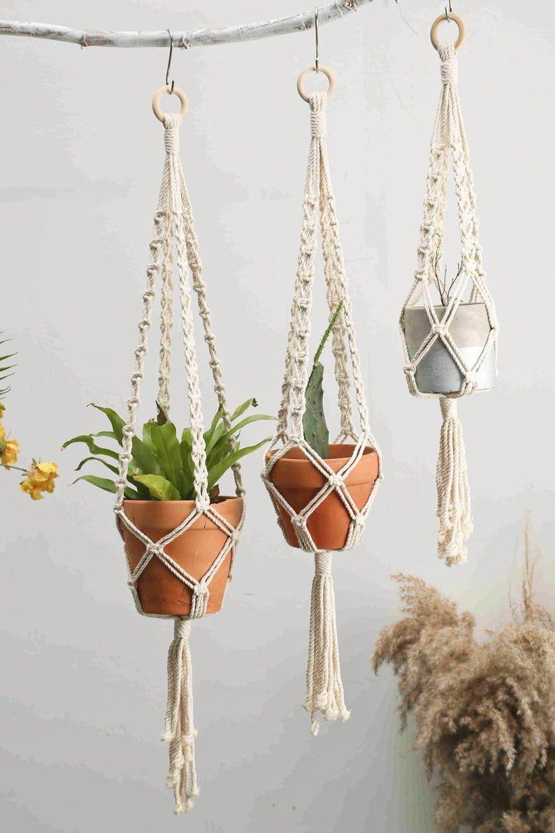 Minimalis Macrame Plant Hangers