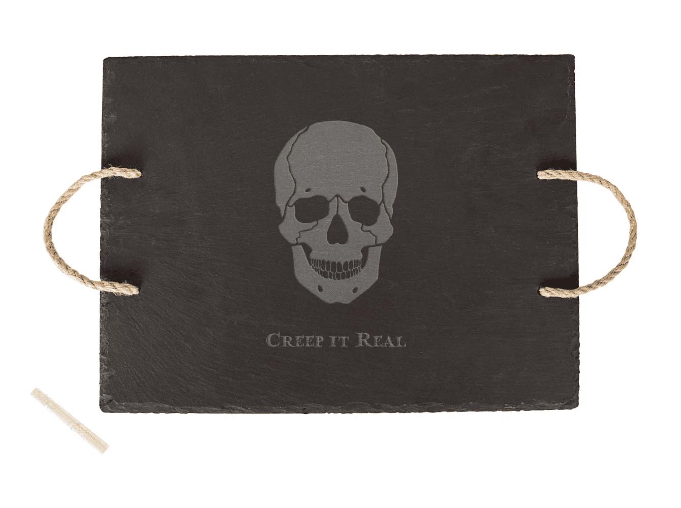 skull cheese plate