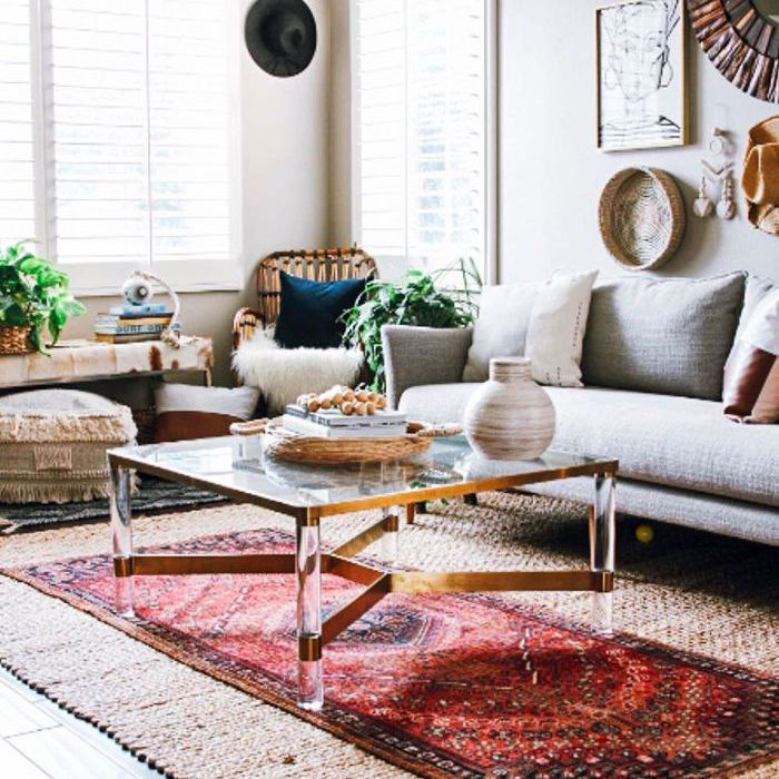 Globally-Inspired Boho-Chic living room