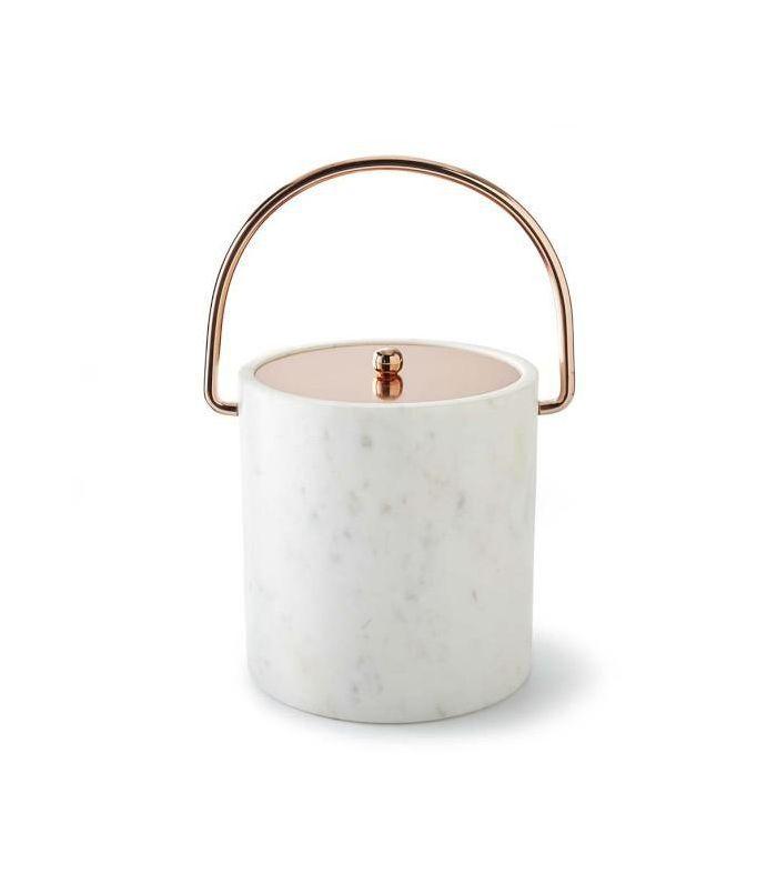 Marble & Copper Ice Bucket