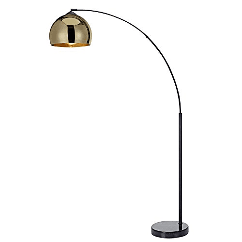 Teamson Versanora Arquer Arc Floor Lamp—Midcentury Modern Living Rooms