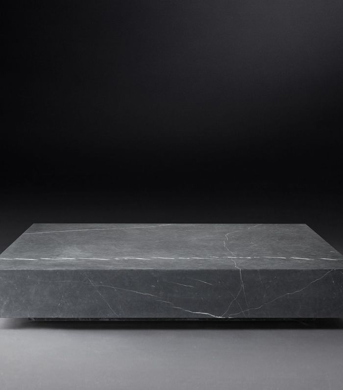 Restoration Hardware Low Marble Plinth Square Coffee Table
