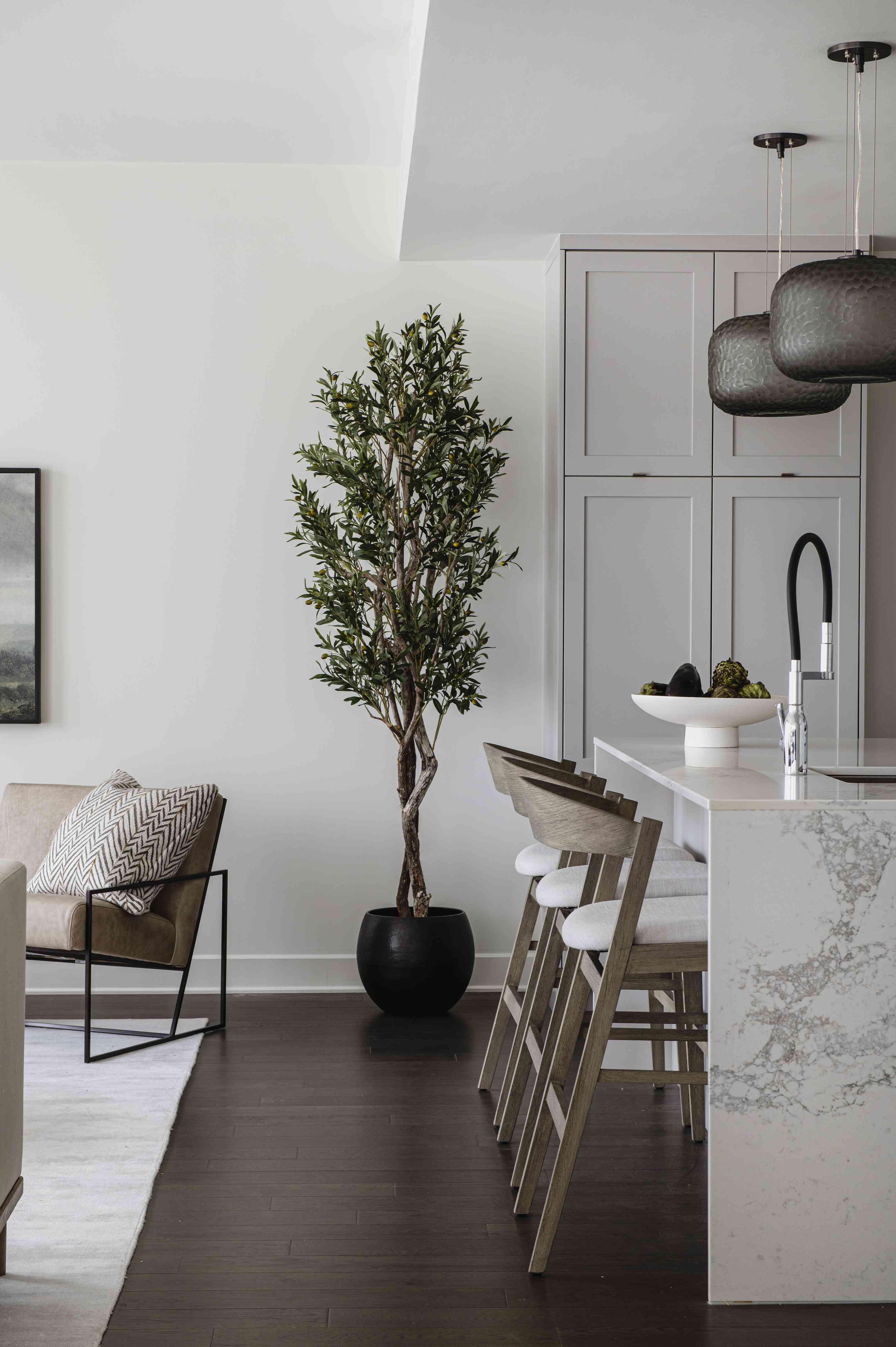 Repose Gray kitchen cabinets