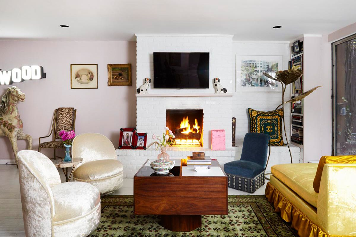 colorful living room