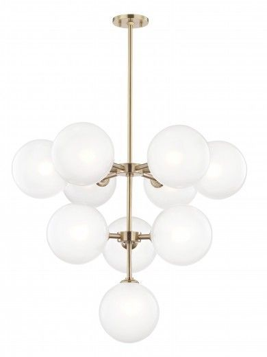 Lulu and Georgia Jalisa Chandelier, Aged Brass
