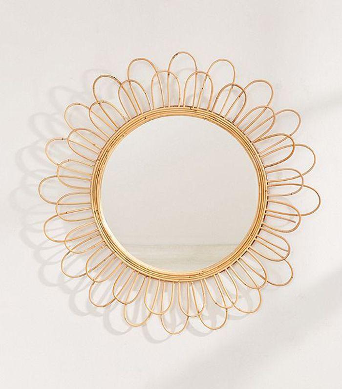Raquel Rattan Sunflower Mirror