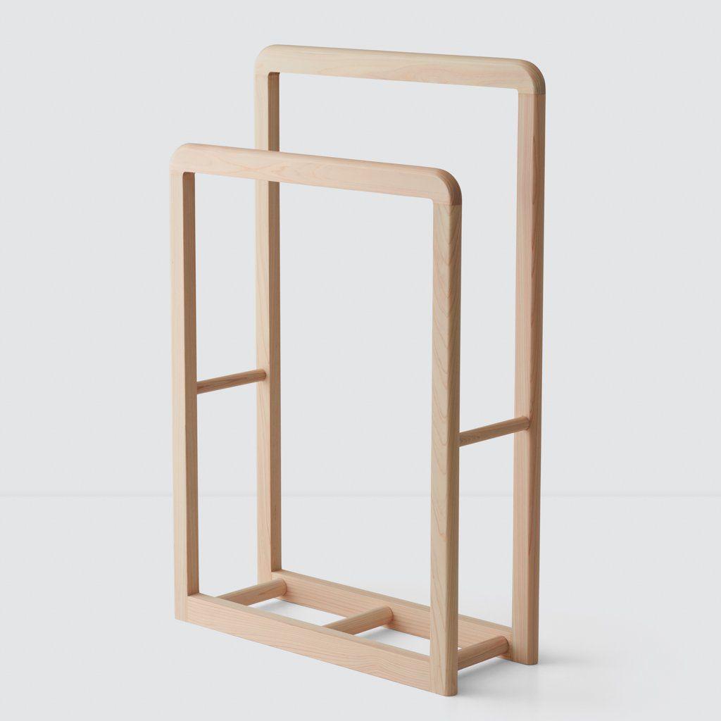 Hinoki Wood Standing Rack