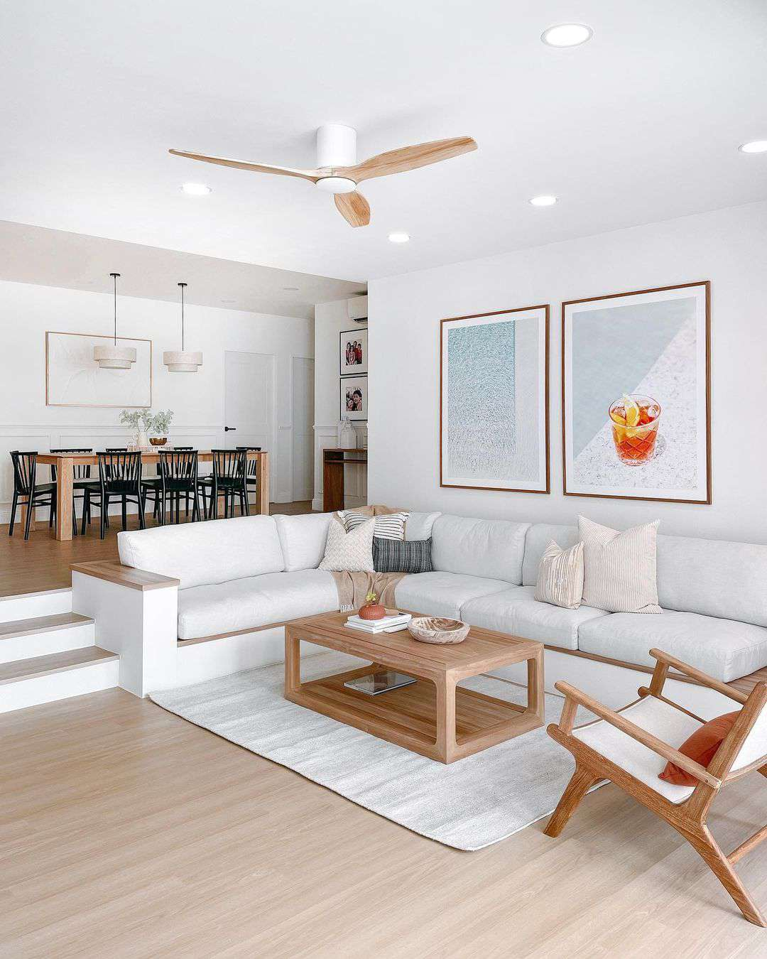 Light and airy living room.