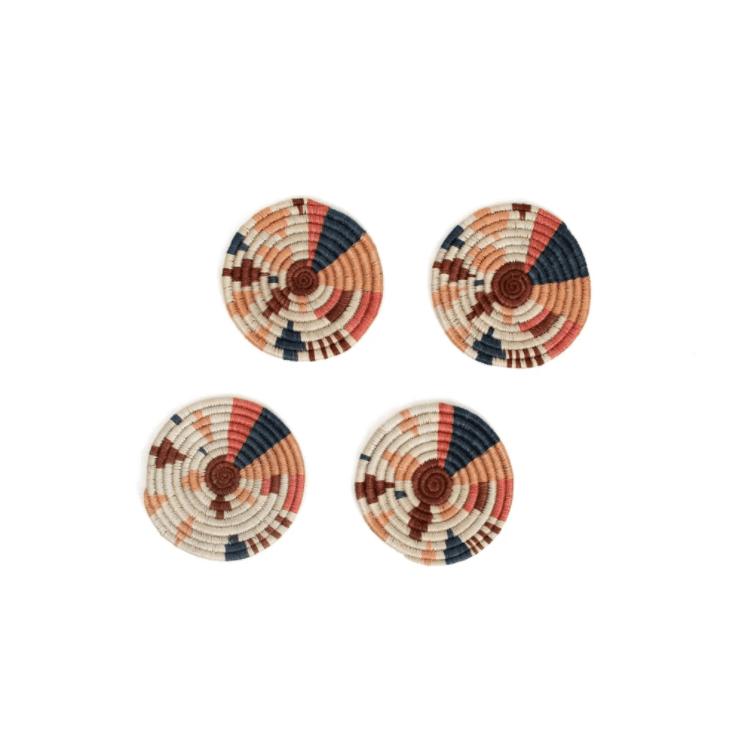 Coral Biko Coasters, Set Of 4