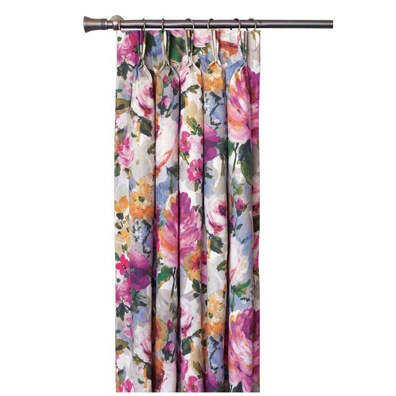 Eastern Accents Tresco Bloom Floral Curtain Panel