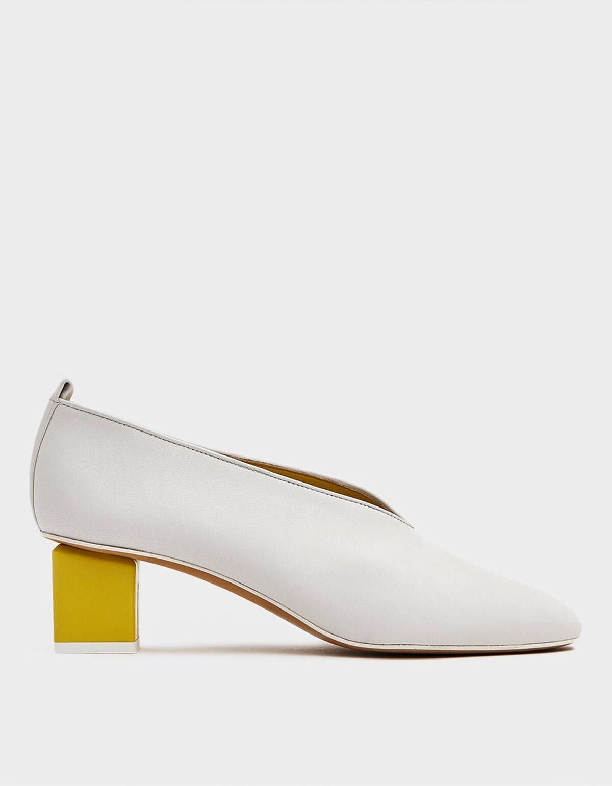 Gray Matters Mildred Classica Heel in Bianco and Limone