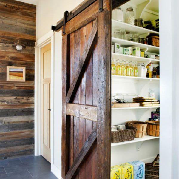 Barn Door Kitchen Pantry