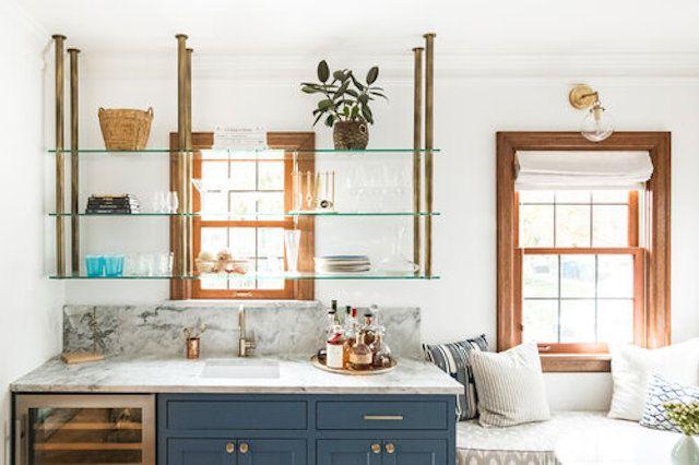 glass kitchen shelves
