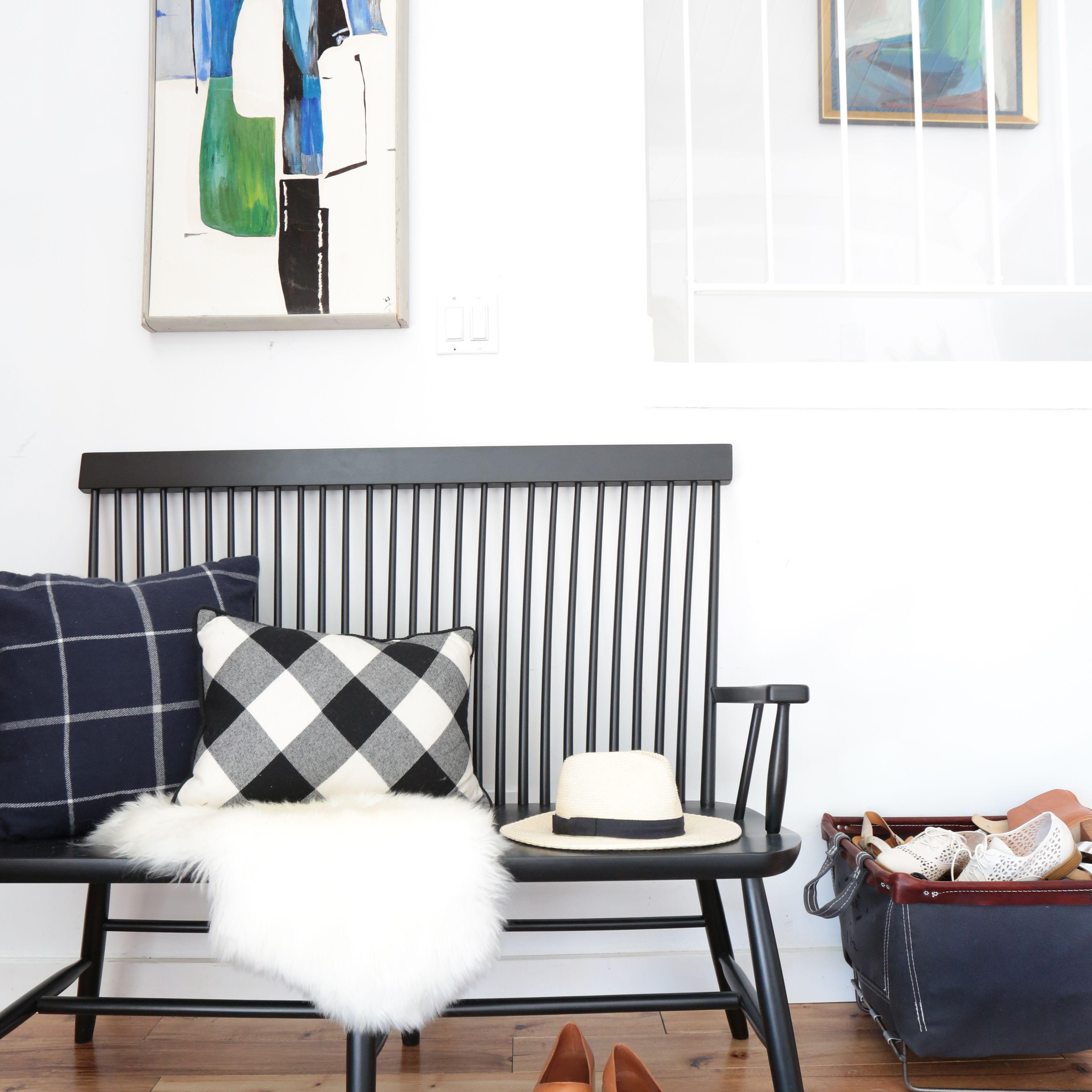 Seating ideas in a small entryway