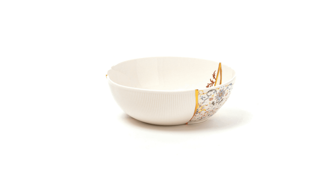 bowl repaired with gold