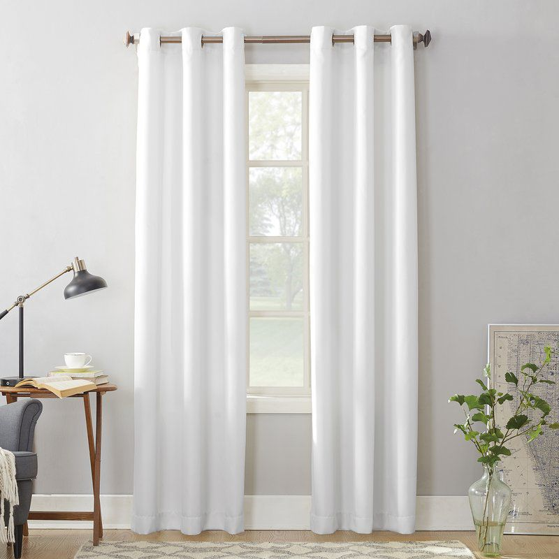 Montego Solid Color Sheer Grommet Single Curtain Panel