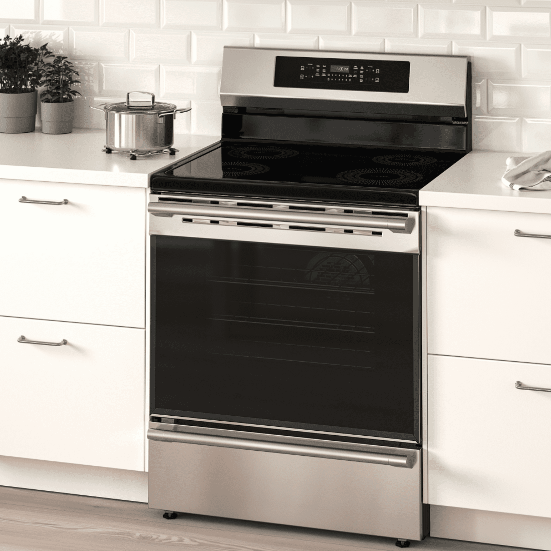 An induction range you can buy at IKEA