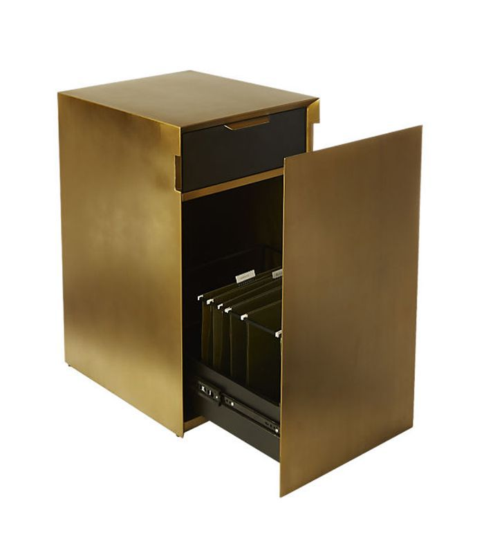 Gold File Cabinet