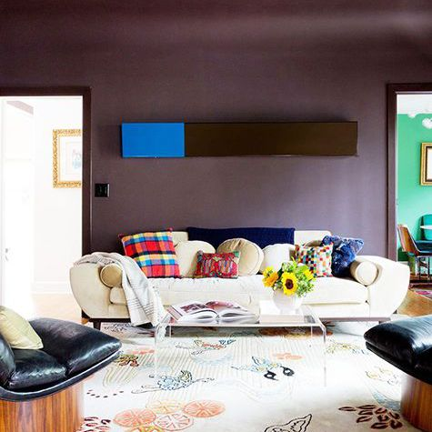 Deep Purple Chocolate Brown Paint Colors For Living Rooms