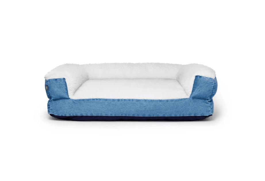 Denim & Sherpa Pet Bed