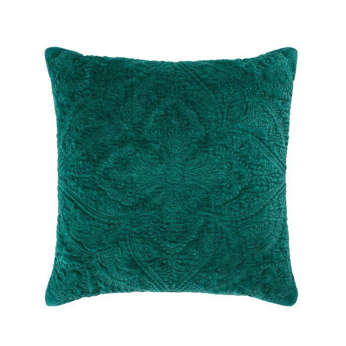 Target Green Velvet Medallion Square Throw Pillow