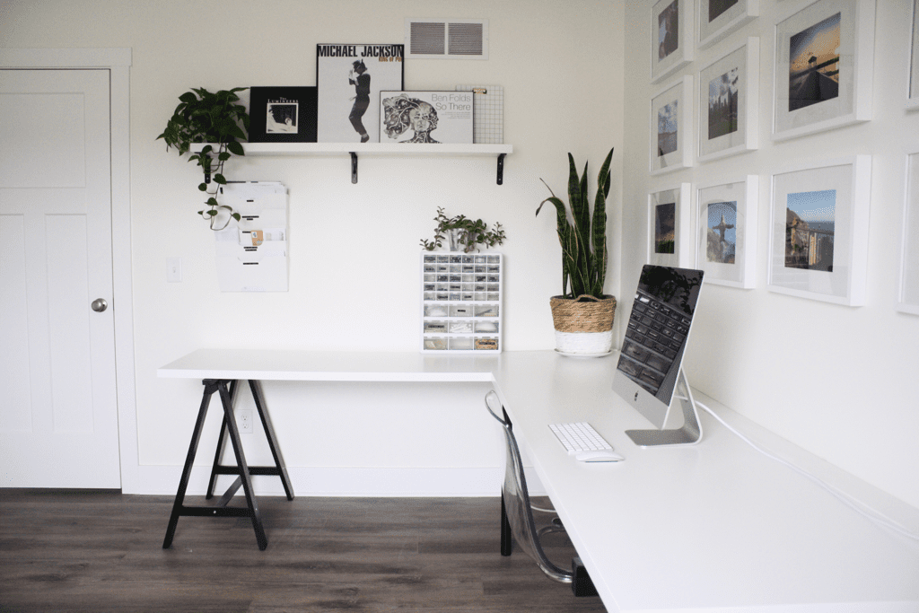 Office space with a corner desk