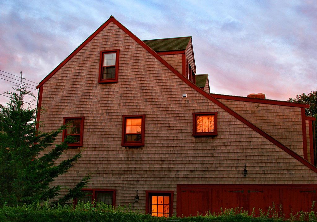 updated saltbox style home