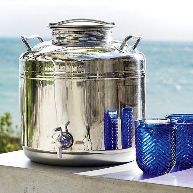 CB2 Stainless Steel Fustis Beverage Dispenser