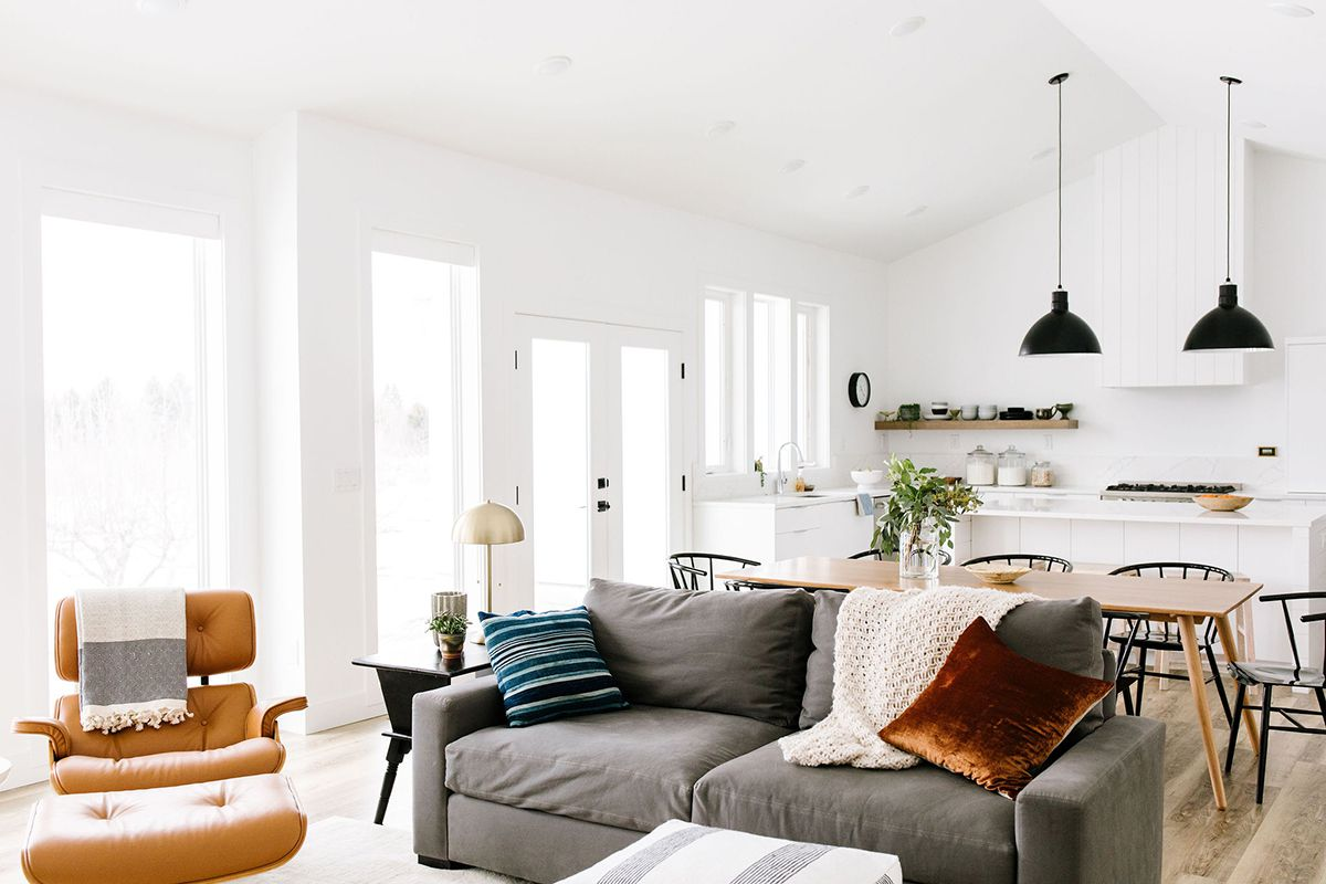 Modern open-plan living room