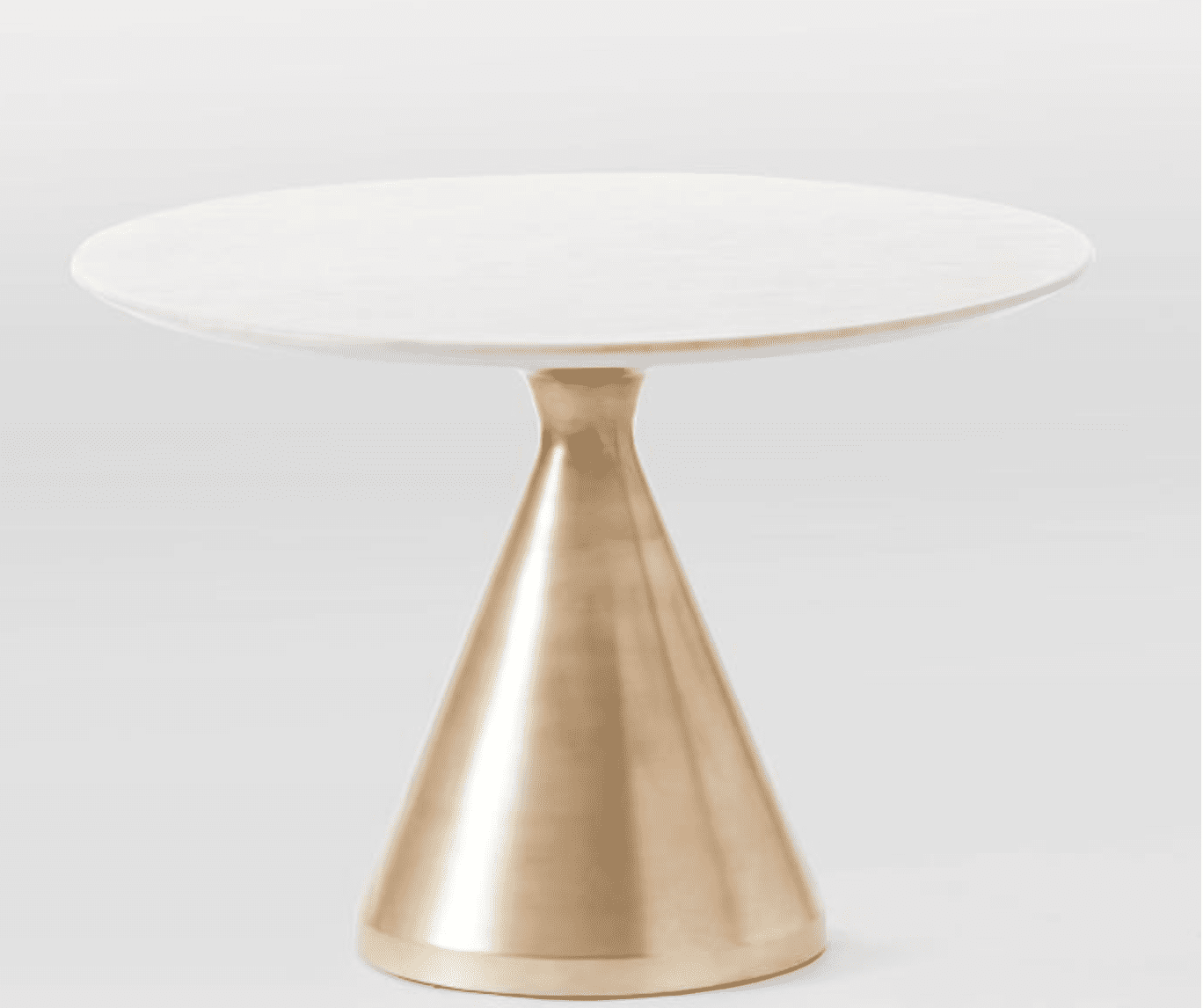 Silhouette Pedestal Round Dining Table by West Elm