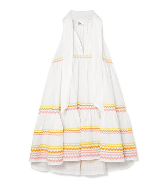 Ava Lily Tiered Linen Mini Dress