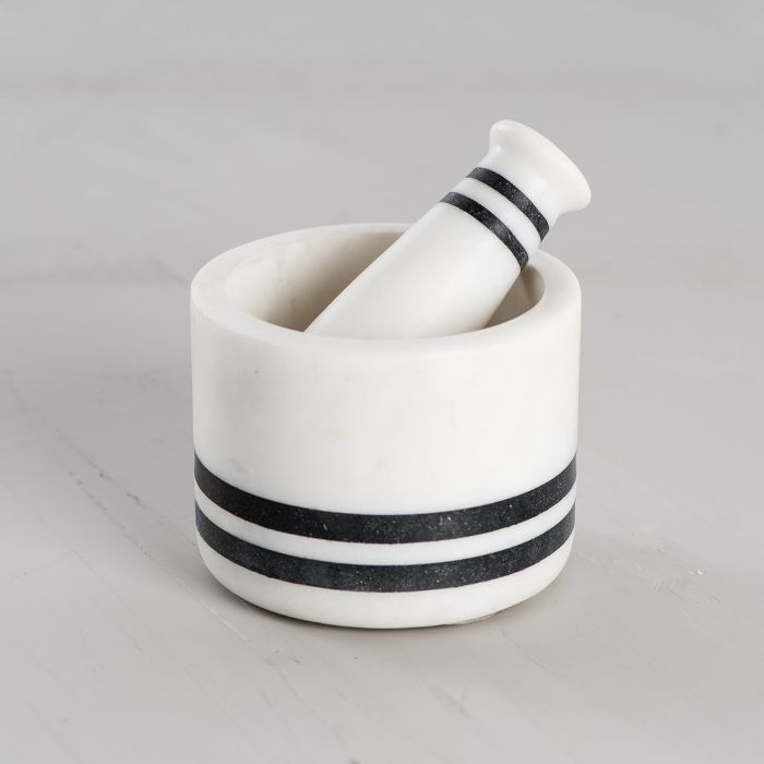 Magnolia Magnolia Adelaide Stripe Mortar and Pestle