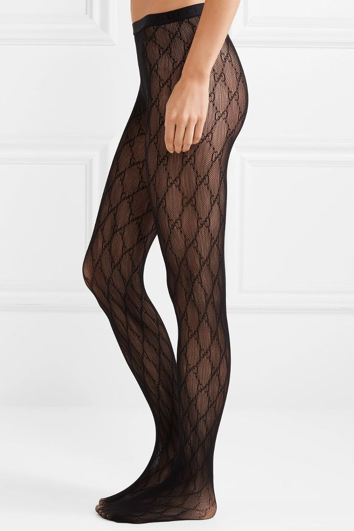 Intarsia Fishnet Tights