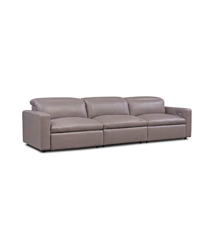 Value City Furniture Happy 3-Piece Dual Reclining Sofa (features USB charging port + dual power reclining with lie-flat technology)